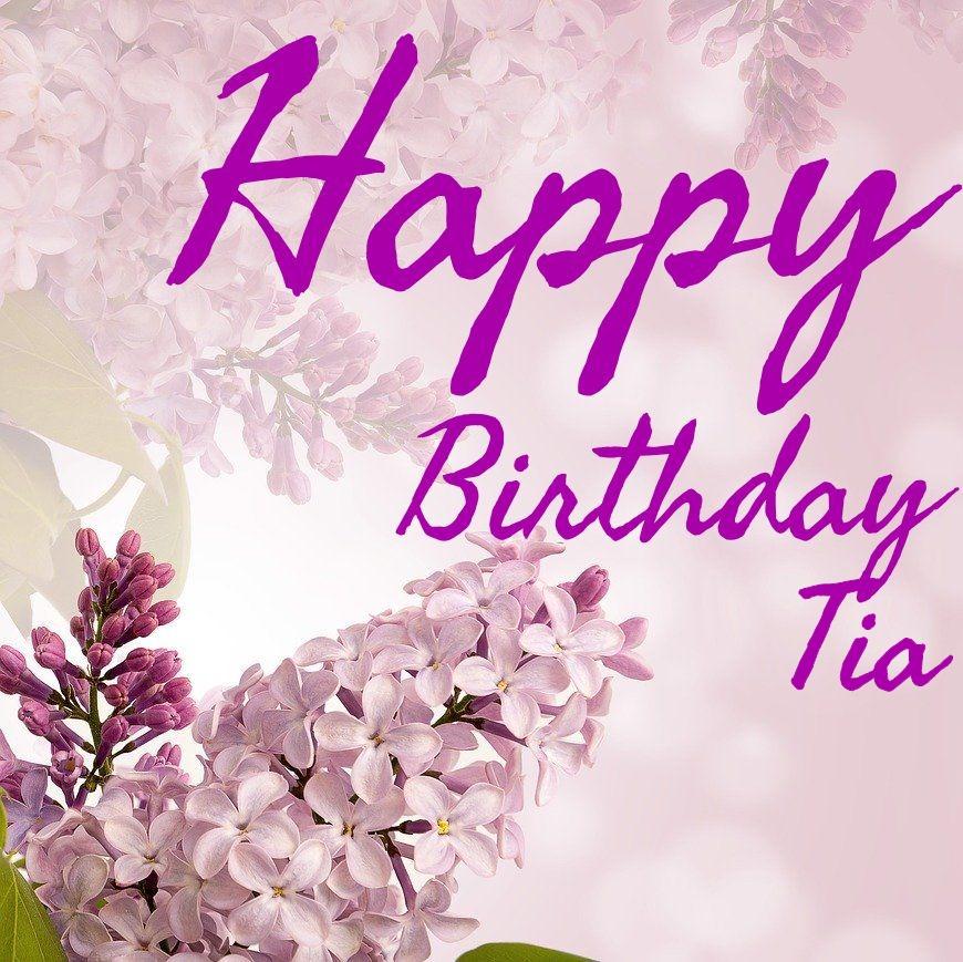 Flores y Pastel Para usted tía en tu cumpleaños-Tía birhday tarjeta